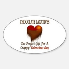 Crappy Valentines Oval Decal