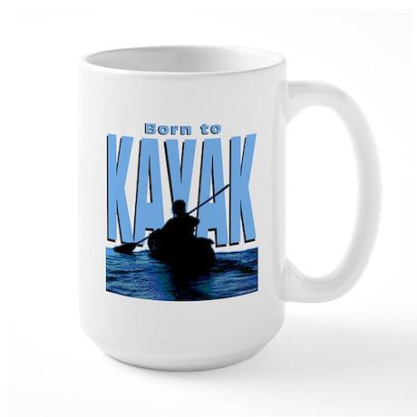 Born to Kayak Large Mug