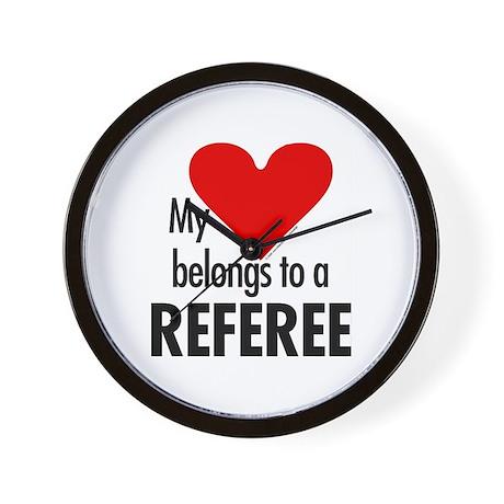 Heart belongs, referee Wall Clock