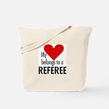 Heart belongs, referee Tote Bag