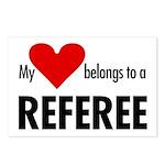 Heart belongs, referee Postcards (Package of 8)