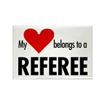 Heart belongs, referee Rectangle Magnet (10 pack)
