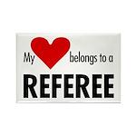 Heart belongs, referee Rectangle Magnet