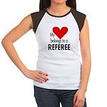 Heart belongs, referee Women's Cap Sleeve T-Shirt