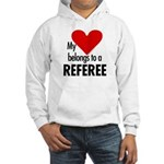 Heart belongs, referee Hooded Sweatshirt