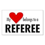 Heart belongs, referee Rectangle Sticker