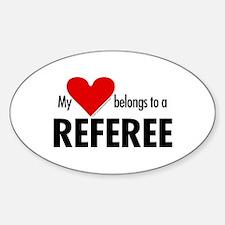 Heart belongs, referee Oval Decal