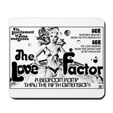Love Factor B-Movie Poster Mousepad