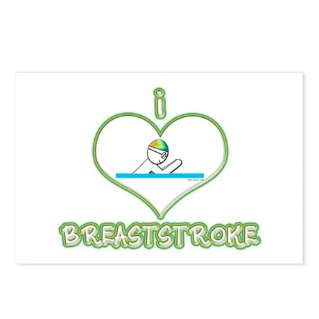 I Love Breaststroke! Postcards (Package of 8)