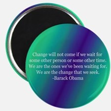 Obama Quote on Change Magnet