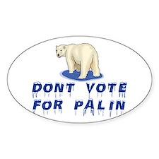 Polar Bears Against Palin Decal