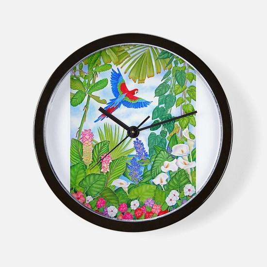 Tropical Paradise Art Wall Clock