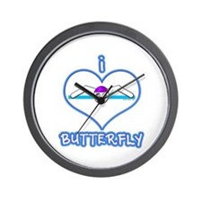 I Love Butterfly! Wall Clock