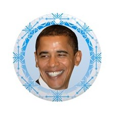 Obama Snowflake Ornament (Round)