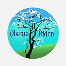 Obama Biden Ornament (Round)