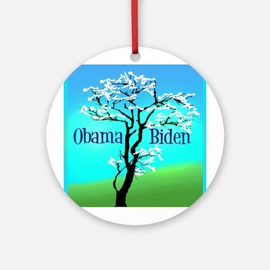 Obama Biden Ornament (Round)
