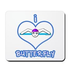 I Love Butterfly! Mousepad