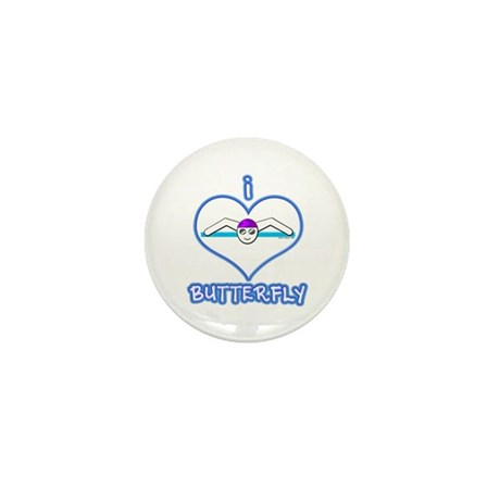 I Love Butterfly! Mini Button (100 pack)