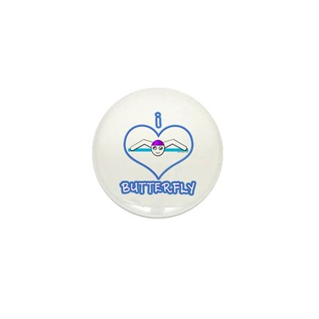 I Love Butterfly! Mini Button