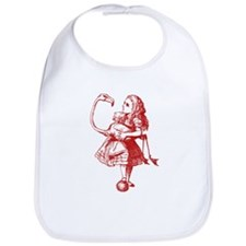 Alice and Flamingo Red Bib