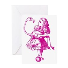 Alice & Flamingo Pink Greeting Card