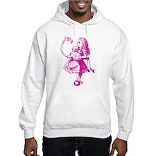 Alice & Flamingo Pink Hoodie