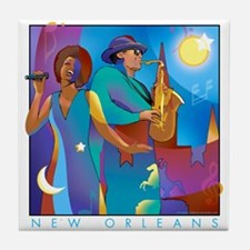 New Orleans French Quarter Tile Coaster