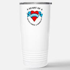 Heart of a Swimmer Stainless Steel Travel Mug