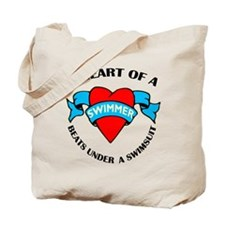 Heart of a Swimmer Tote Bag