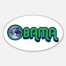 Obama World Sticker (Oval)