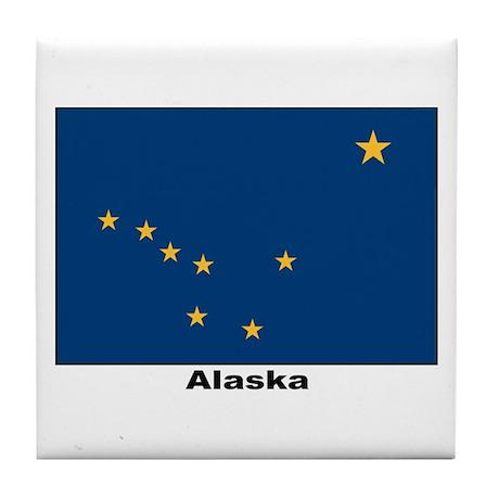 Alaska State Flag Tile Coaster