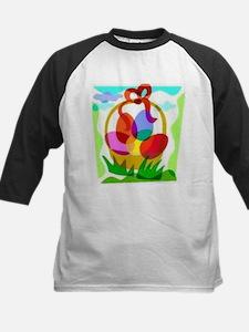 Easter Basket Kids Baseball Jersey