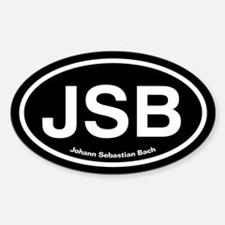 JSB Johann Sebastian Bach Sticker (Oval)