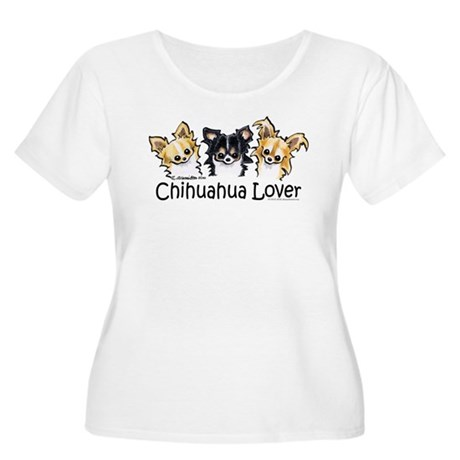 Longhair Chihuahua Lover Women's Plus Size Scoop N