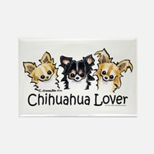 Longhair Chihuahua Lover Rectangle Magnet