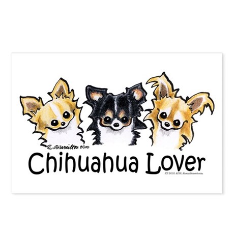 Longhair Chihuahua Lover Postcards (Package of 8)