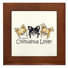 Longhair Chihuahua Lover Framed Tile