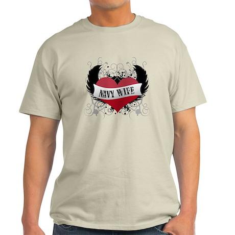 Navy Wife - Rock Star Style Light T-Shirt