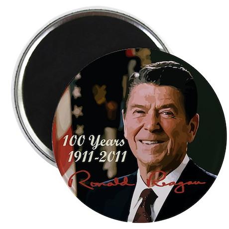 "Remembering Reagans -100th 2.25"" Magnet (10 p"