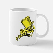 Mad Hatter Striding Yellow Mug