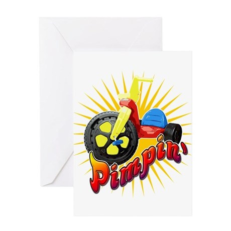 Pimpin' Big Wheel Greeting Card