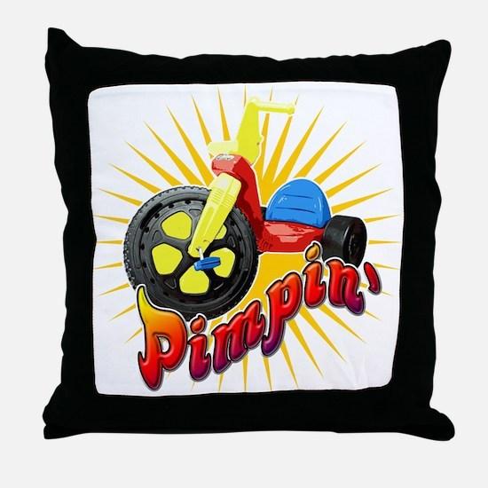 Pimpin' Big Wheel Throw Pillow