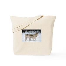 Cute Wolves Tote Bag