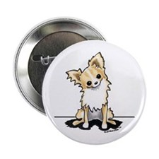 "LH Chihuahua Sit Pretty 2.25"" Button"