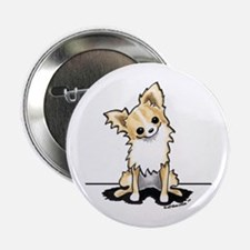 "LH Chihuahua Sit Pretty 2.25"" Button"