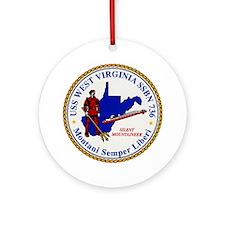 USS WEST VIRGINIA Ornament (Round)