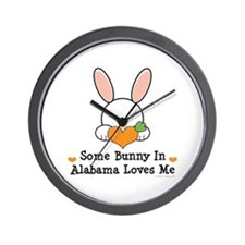 Some Bunny In Alabama Loves Me Wall Clock