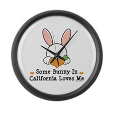 Some Bunny In California Loves Me Large Wall Clock