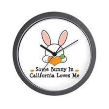 Some Bunny In California Loves Me Wall Clock