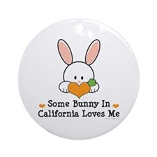 Some Bunny In California Loves Me Ornament (Round)